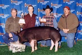 2002 Houston Stock Show1st Place light weight Berk