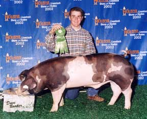 2002 Houston Stock Show6th Place middle weight Spot