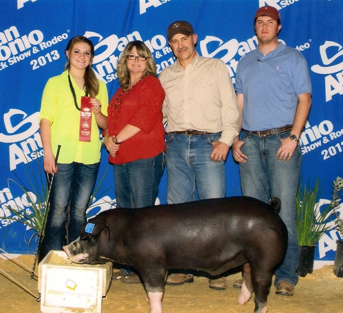 2013 San Antonio 2nd Place light weight Poland shown by Sarah Copeland